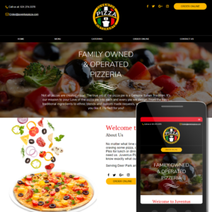 Business Website Sample - Pizzaria
