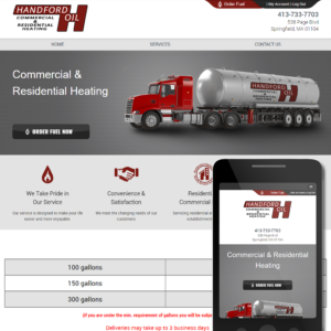Contractor Website Sample - Hartford Oil