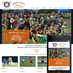 Health Fitness Website Sample - PAL Lacrosse
