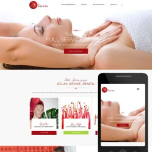 Health Fitness Website Sample - Red Hots Spa