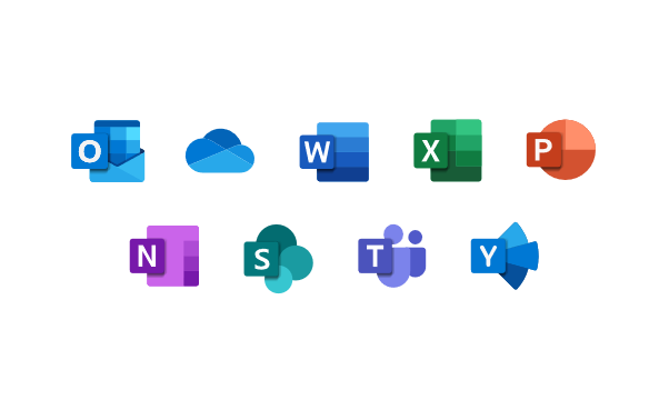 Microsoft Suite icons